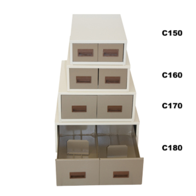 Card index filing cabinet - Double