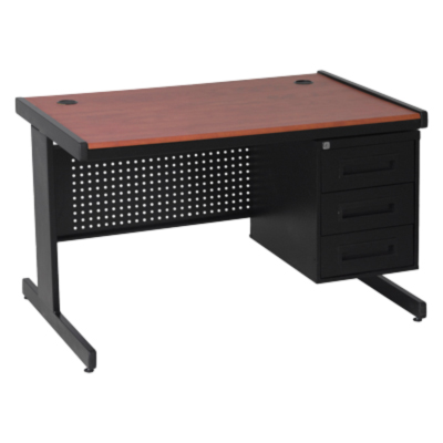 Pacific Desk perforated panels 3 drawer pedestal