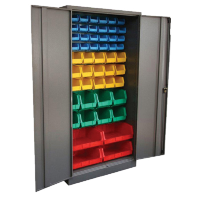 Stationery Cupboard with Louvre Panels